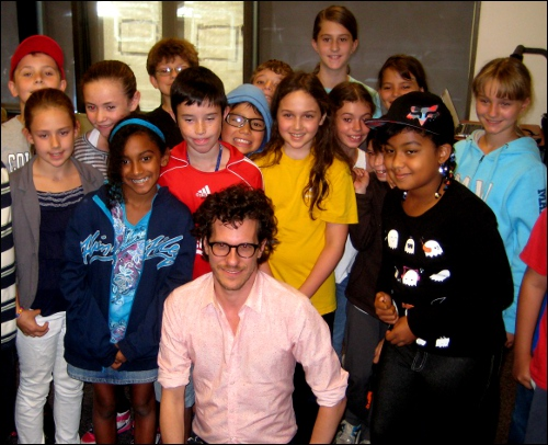 Brian Selznick with Bank Street School for Children students