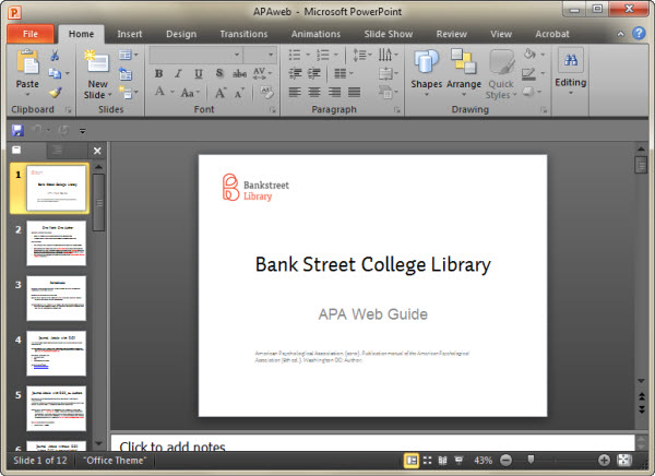 Making a PowerPoint presentation handout: Getting Ready