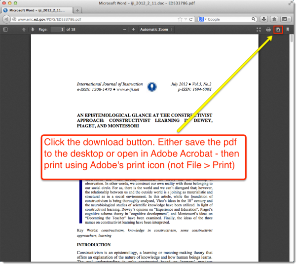 pdf's in a browser