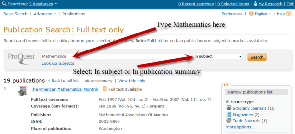 ProQuest Full Text Search