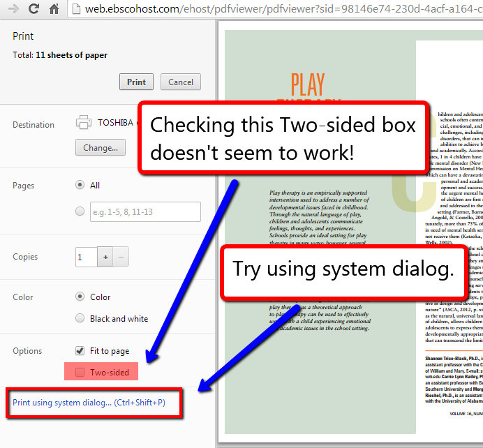 Two-Sided Printing With Google Chrome | Bank Street Library Blog