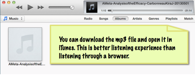 mp3 file of database article